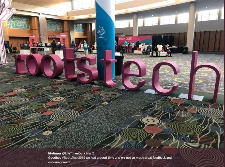 RootsTech hallway signage