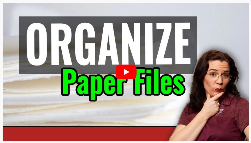 VIDEO: How to organize genealogy paper files