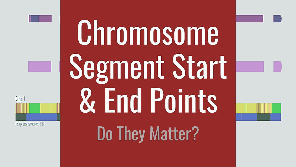 Three chromosome segments with overlay chromosome start and end points