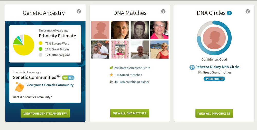 AncestryDNA home page screenshot