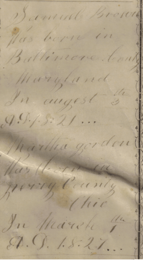 Emma Townsend Brown Bible, recording her in-law's births