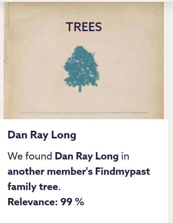 Sample tree-to-tree hint on FindMyPast