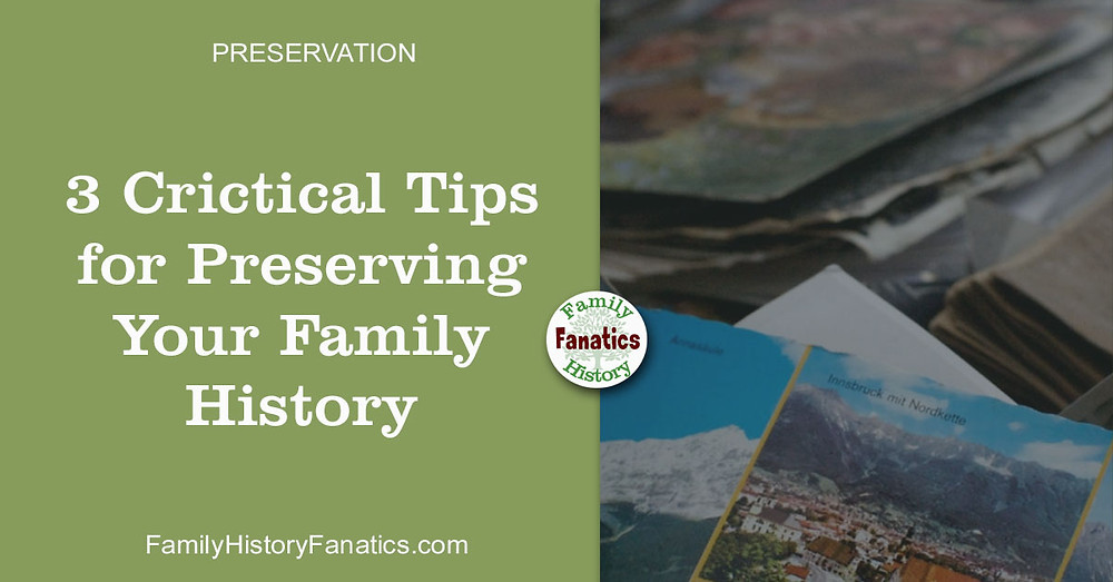 Damaged photos with title 2 critical tips for preserving your family history