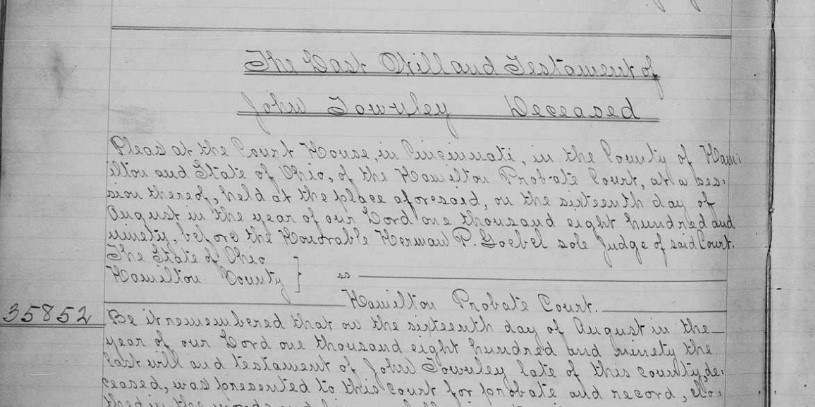 1890 Probate record for genealogy research brick wall case