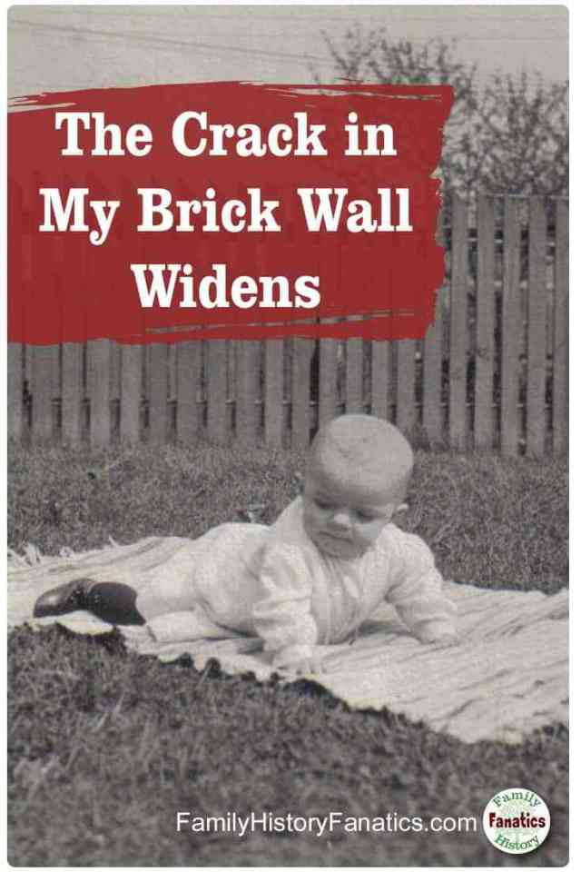 Read how the smallest of clues opened a genealogy brick wall to the bursting point. #methodology #genealogy #ancestors