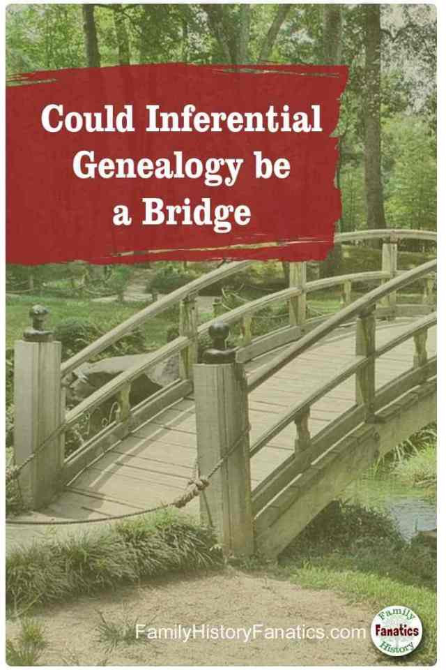 sepia photo of bridge with title inferrential genealogy