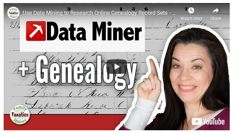 VIDEO: How to Use Data Miner for Genealogy