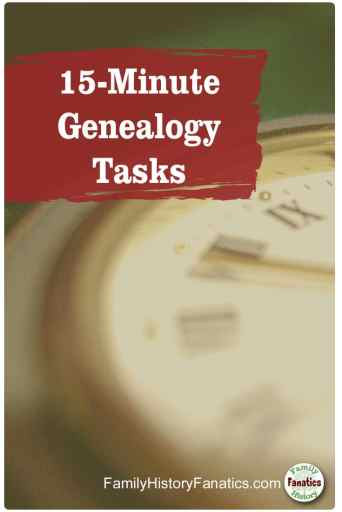 partial picture of clock with title how to find time for family history