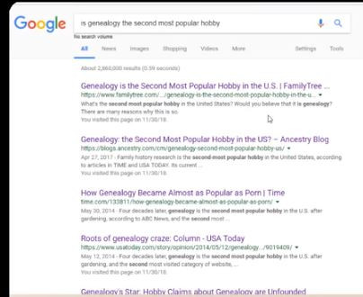 A search for genealogy's popularity