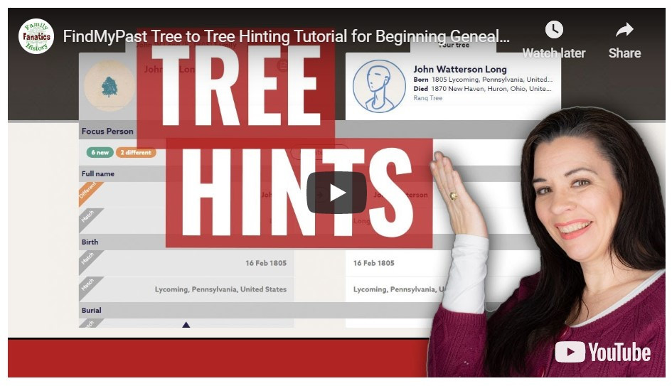Video: Findmypast Tree-to-Tree Hints to Build a Family Tree