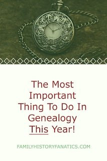 antique watch with caption genealogy goals