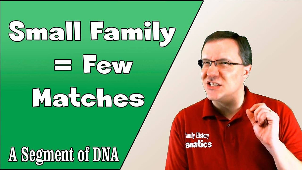 Why generations of small families have trouble with DNA testing