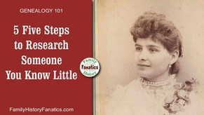5 Step Genealogy Research Plan For Someone You Know Little About