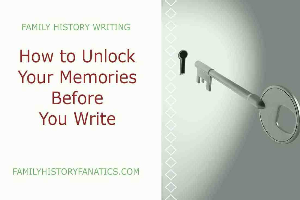 Key to a lock that says how to unlock your memories before you write