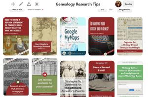 My Favorite Genealogy Research Tips  Pinterest Board