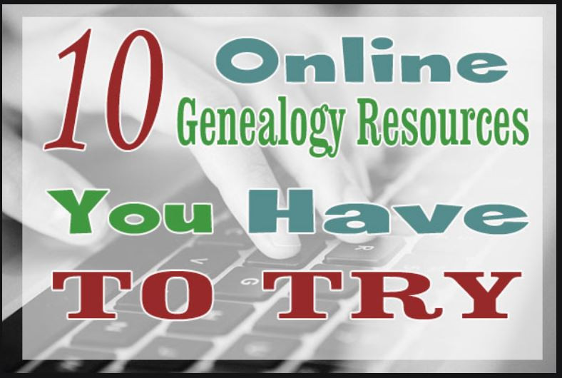 Fingers typing on keyboard with title 10 Online Genealogy Resources You Have to Try