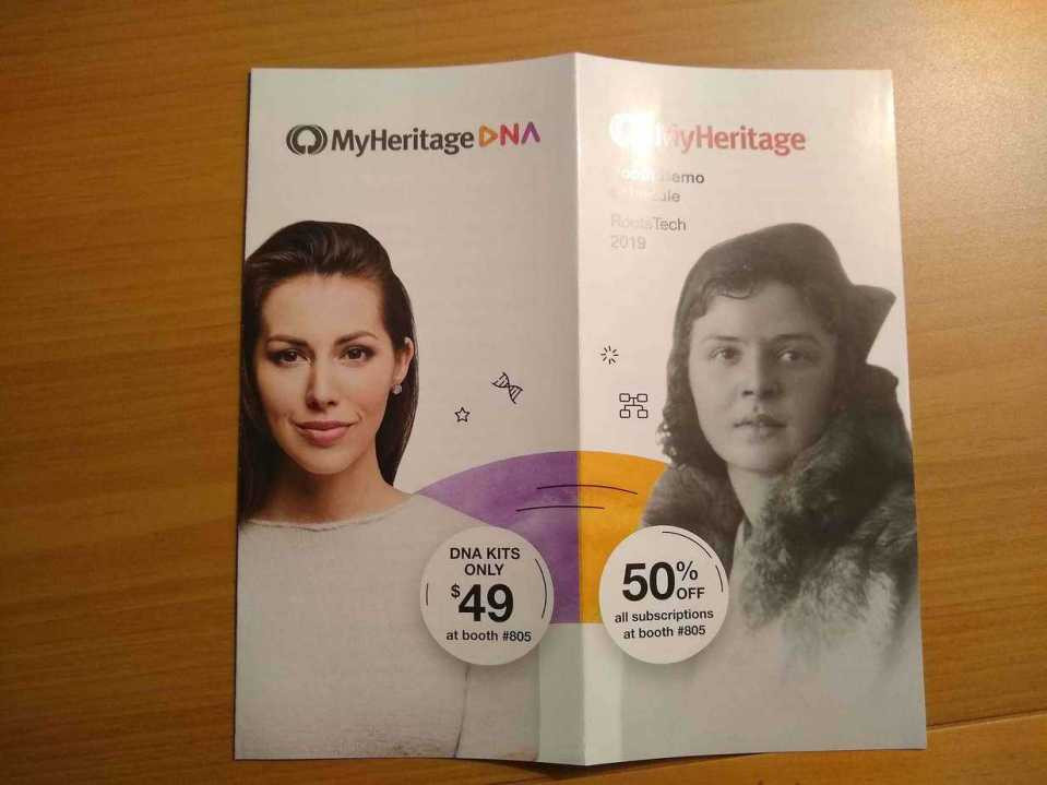MyHeritage 2019 RootsTech Brochure