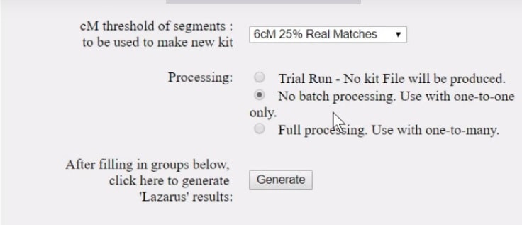 Which process should you use with the GEDmatch Lazarus Tool to recreate the DNA of your deceased ancestor. #gedmatch #geneticgenealogy #dna
