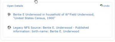 Sources for Bertie Underwood