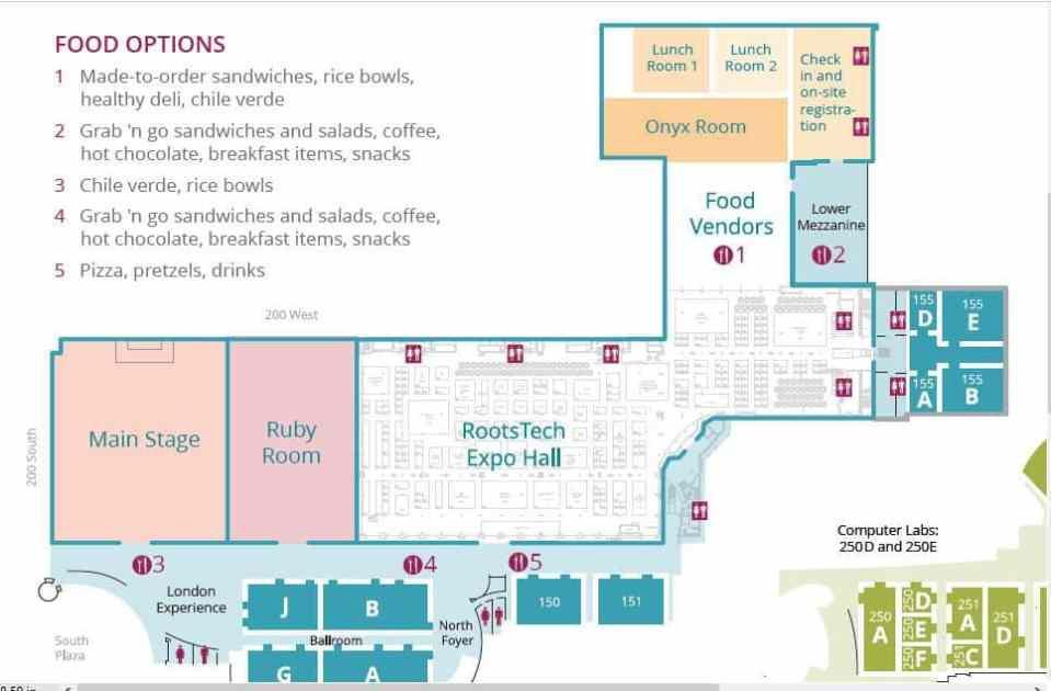 RootsTech 2019 Floor Plan