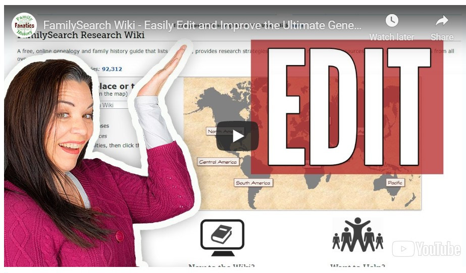 VIDEO: How to Edit the FamilySearch Wiki