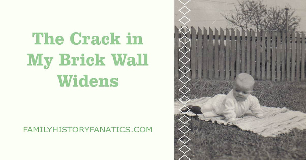 Baby photo for the article the crack in the genealogy brick wall widens