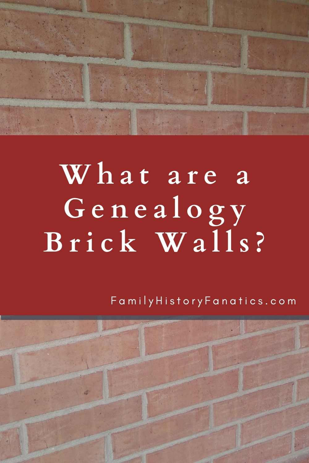 Brick wall with question What are genealogy brick walls?