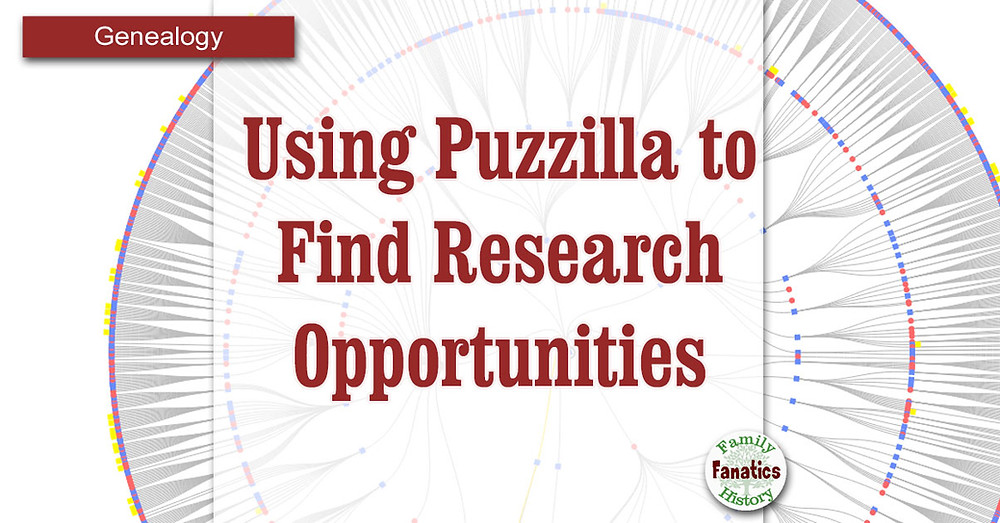 Puzzilla Fan Chart: How to research family tree