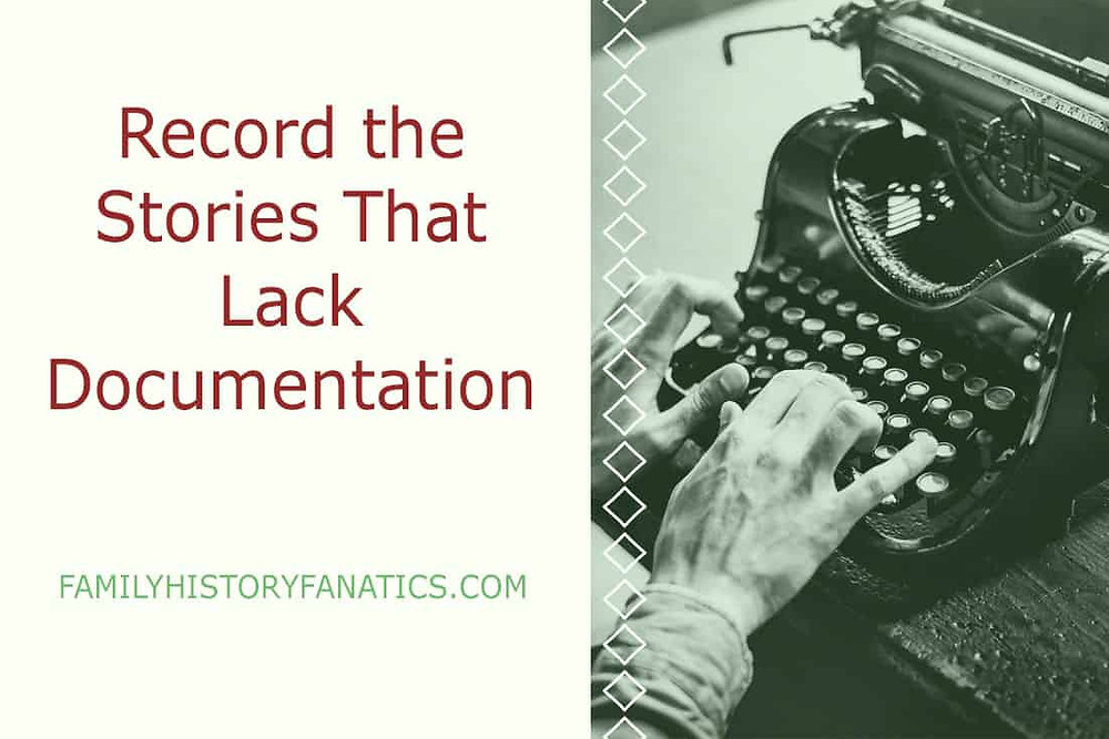 typewriter and record the family history stories that lack documentation