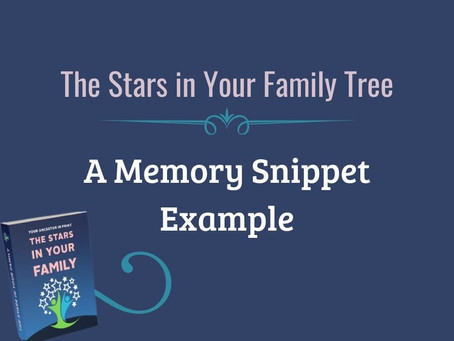 Memory Snippets Writing Example For SCGS Stars in My Family Tree
