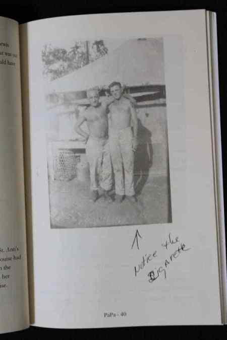 family members sharing insight in genealogy book proof copy