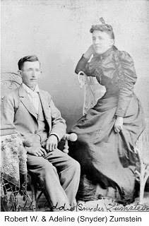 Robert W. & Adeline (Snyder) Zumstein