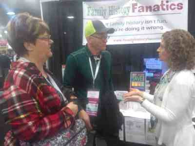 Diane Elder of Family Locket meeting fans at RootsTech