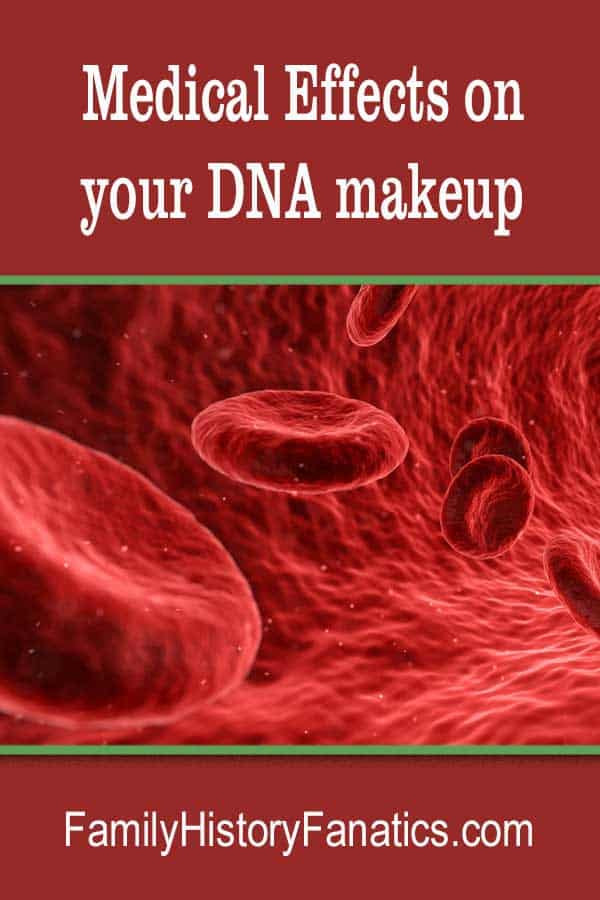 blood cells and title Medical Effects on Your DNA MakeUp