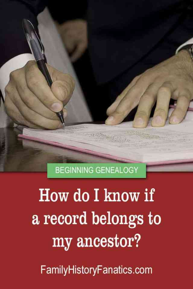 hands writing notes with title how to evaluate genealogy records