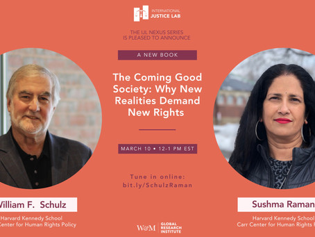 Book Launch: The Coming Good Society: Why New Realities Demand New Rights, by B. Schulz and S. Raman