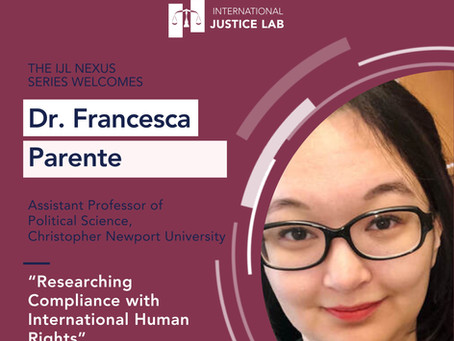 Dr. Francesca on researching compliance with international human rights
