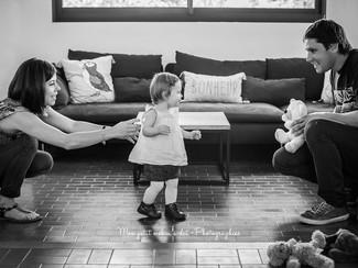 Séance Famille à domicile : les 1 an d'Agathe!