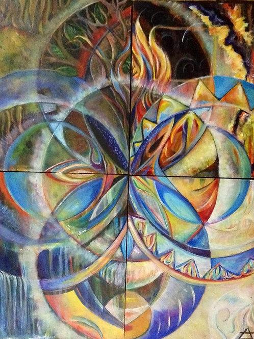 "ART WORK PRINT : ""Elements I "" 2014"