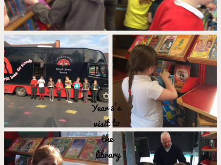 Library Bus Visits School