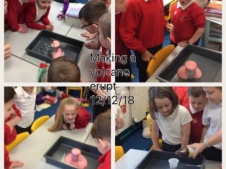 3P make a volcano erupt!