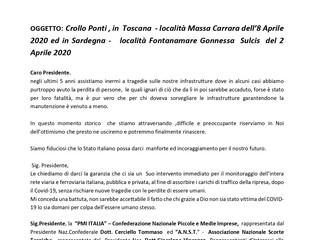 Lettera al Presidente Mattarella