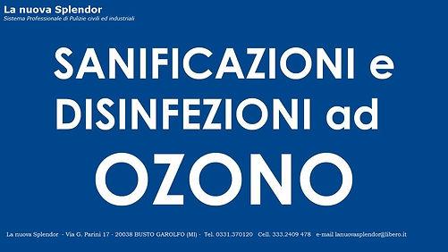 Sanificazione e disinfezione ad ozono