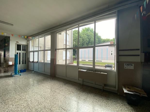 Lavaggio dei serramenti e vetri.