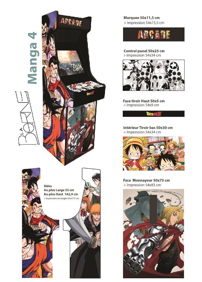 Borne arcade 4 Mangas