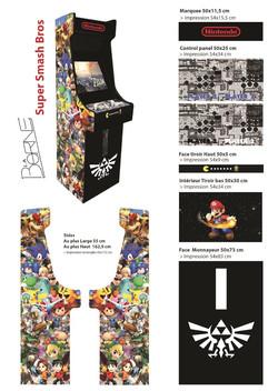 Borne arcade Smash Bros