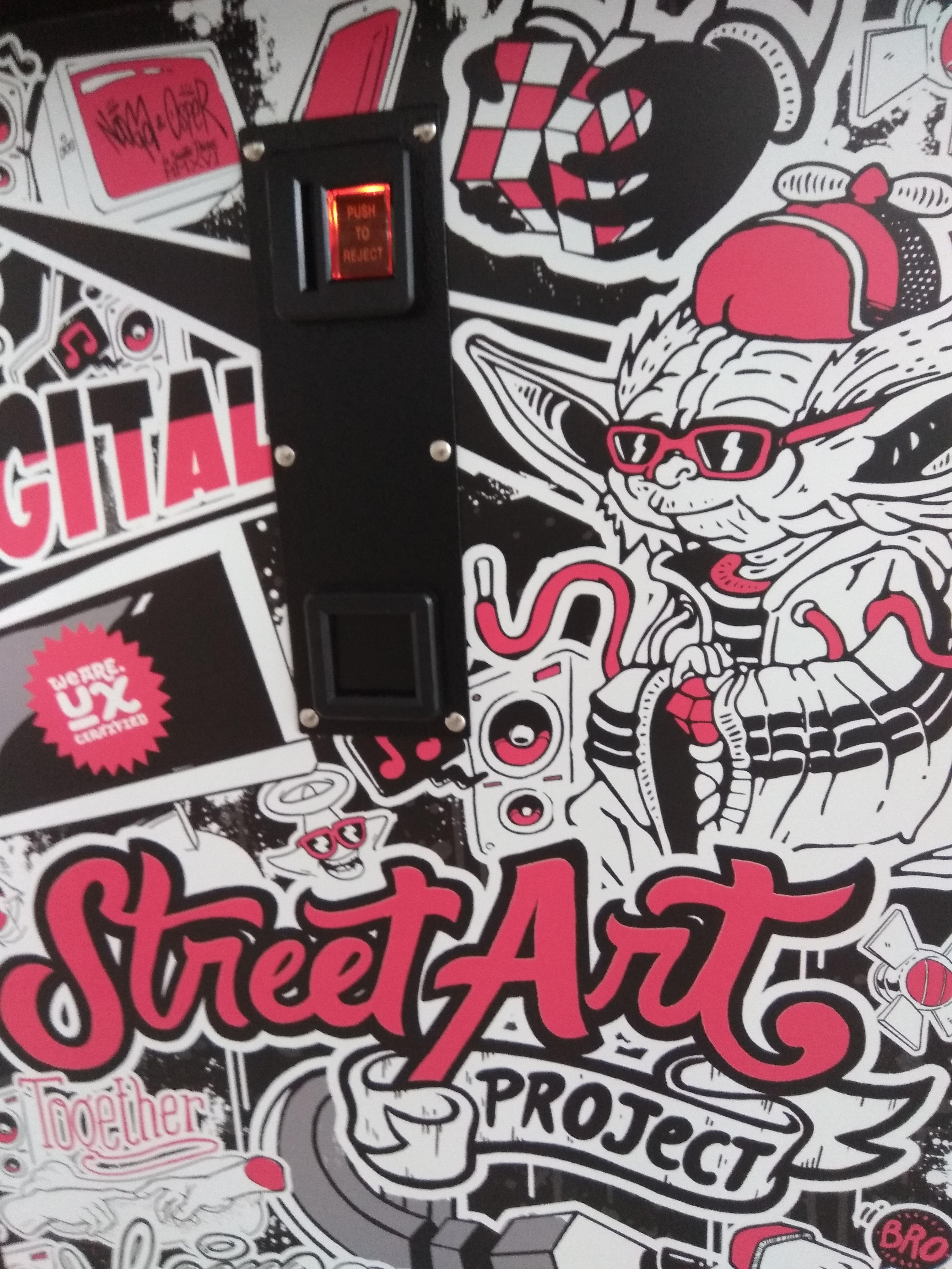 Borne d'arcade Street Art