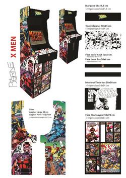 Borne arcade X Men