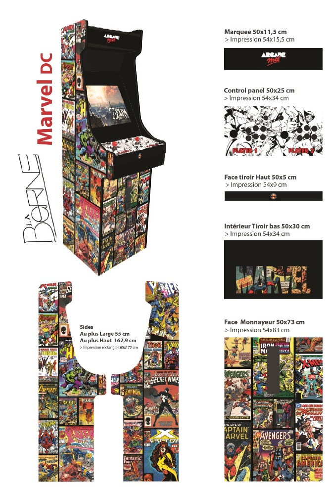 Borne arcade Comics