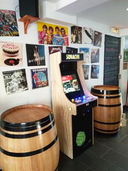Échoppe a biere Borne d'arcade